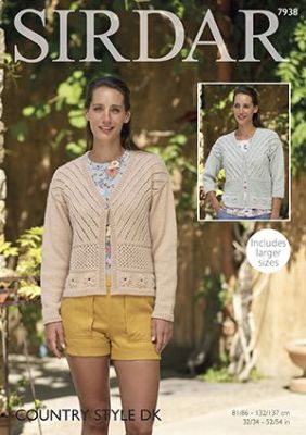 Sirdar Country Style DK - 7938 Cardigans Knitting Pattern